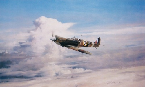bader-legend-robert-taylor-aviation-art-prints Spitfire