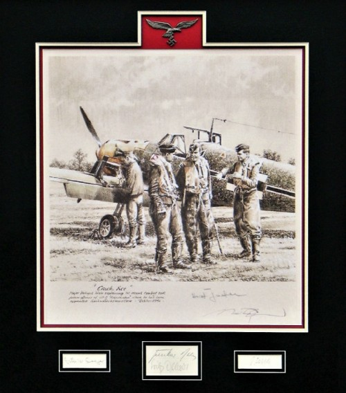Crack Ace Matted Robert Taylor Aviation Art